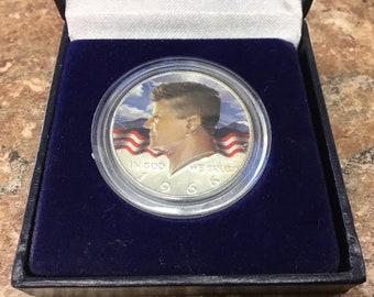 1966 painted 40% silver Kennedy half dollar