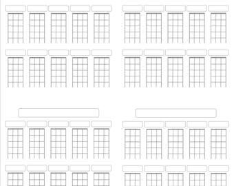 Printable ukulele tablatures and chords
