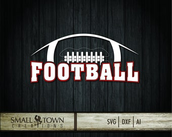 Football SVG - Cut Files - Vinyl Cutters, Screen Printing, Silhouette, Die Cut Machines, & More