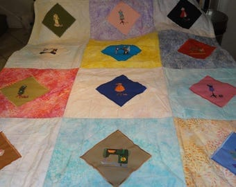 Antique Sewing Machines and Matching Dress Stand Quilt 52x52