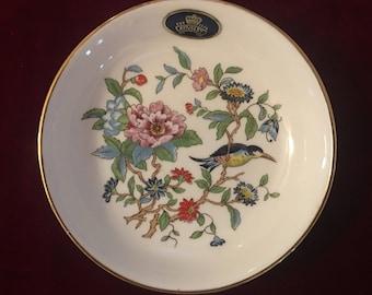 Aynsley Pembroke (Gold) sweet meat dish; trinket dish; English china; birds and flowers; vintage china; AY164AC