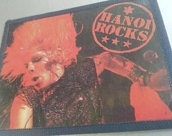 Hanoi rocks , vintage 80s photo patch . Michael Monroe .