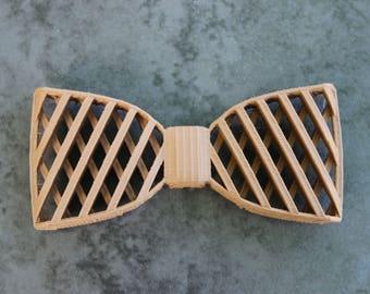 3D Printed Bow Tie - Wood-Like Brown