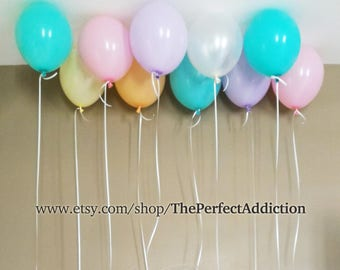 12 Pastel Color Latex Balloons Premium Quality Party Decor