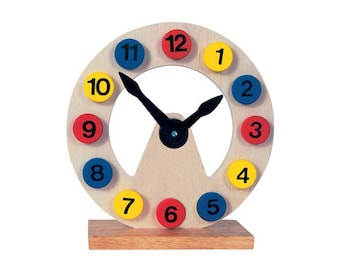 Toy watches  - Learning Toy - Montessori toddler toy - Toddler birthday gift - Wooden toy - Educational toy