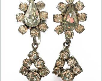 60's Rhinestone Drop Earrings