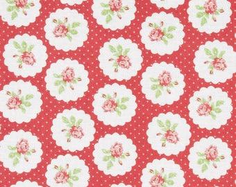 35% off - 2 yards Free Spirit Tanya Whelan Collection -  Lulu Roses Lotti TW094 Red