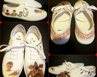Stranger things inspired shoes. Size 7.