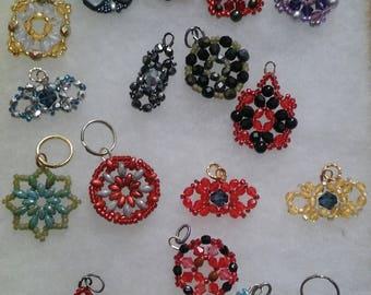 Glass beaded pendants