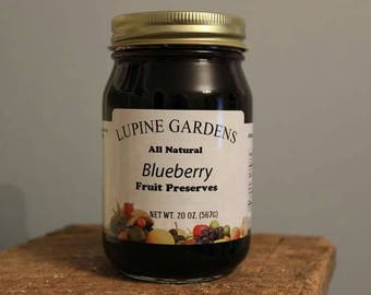 Blueberry Preserves. 20 oz jar. COMBINED SHIPPING RATES.