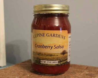 Cranberry Salsa. 17 oz. COMBINED SHIPPING RATES.