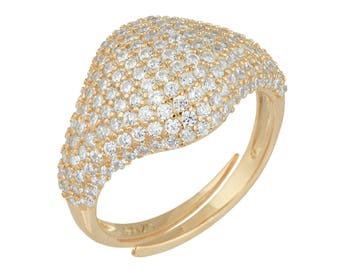 Pave Pinky Ring