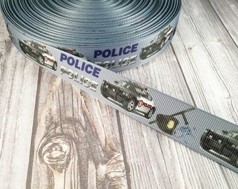 Police ribbon - Officer ribbon - Blue lives matter - Serve and protect - Police bow DIY - Police headband DIY - Cruiser ribbon - Craft