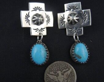 Mission Style Cross Earrings