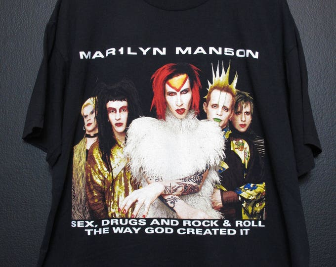 Marilyn Manson Sex, Drugs and Rock & Roll, The Way God Created It 1990s Tshirt