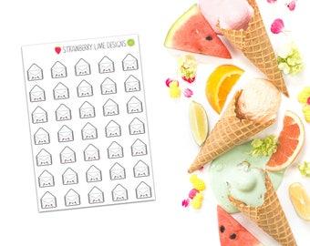 Mini White Envelope Stickers