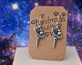Fairy Earrings, Fairy Gifts, Fairy Jewelry, Silver Earrings, Fairy Charm Earrings, Novelty Earrings, Fantasy Jewelry, Magical Jewelry