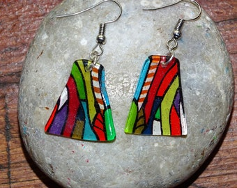 colorful bright earrings