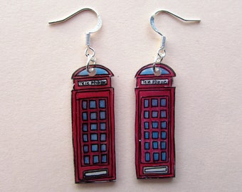English telephone earrings