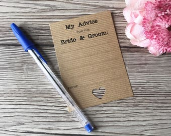 Wedding Advice Cards, Words of Wisdom, Wedding Stationery, Guest keepsake, Guest advice cards, Wedding Day Time Filler