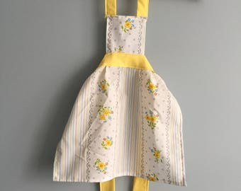 Toddler Apron Handmade from Vintage Sheets