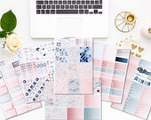 Floral Frost -  Weekly kit - 6/7 pages - Planner stickers - Erin Condren - Plum Paper - Kikki K - Paperchase - Filofax