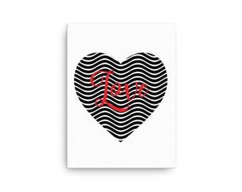 Love in the Heart Canvas