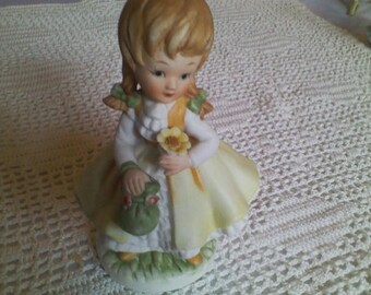 Girl in Yellow Dress Figurine