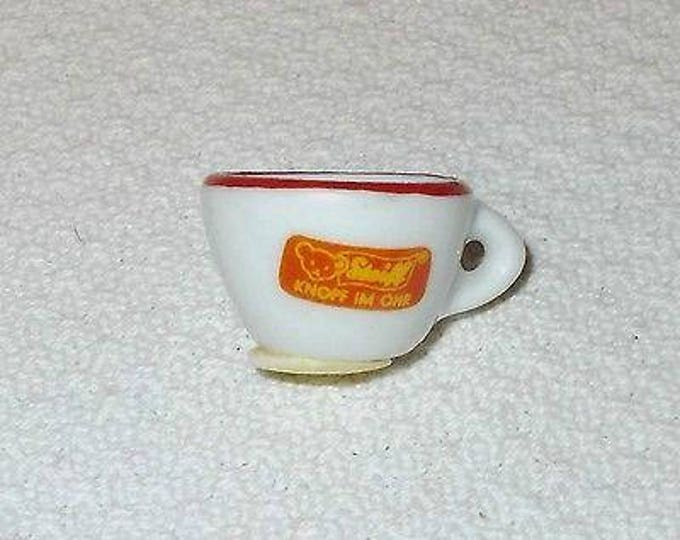 Vintage 70s Dollhouse Miniature Porcelain Steiff Mini Single Tea Cup Toy