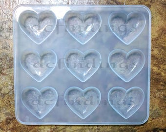 Pre-Order for TRANSPARENT Shiny silicone Puffy heart mold