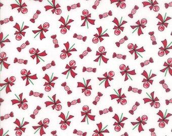 Moda SUGAR PLUM Quilt Fabric 1/2 Yard By Bunny Hill Designs - White 2913 12