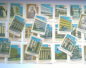 Two collection sets of match labels (matchbox stickers) USSR 46pcs