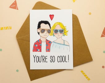 Clarence and Alabama - True Romance - You're so cool - Print postcard
