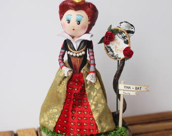 Red Queen, Red Queen Doll, Queen Of Hearts, Alice In Wonderland, Tim Burton Inspired