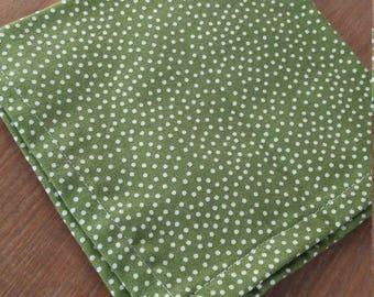 Green polka dot pocket square