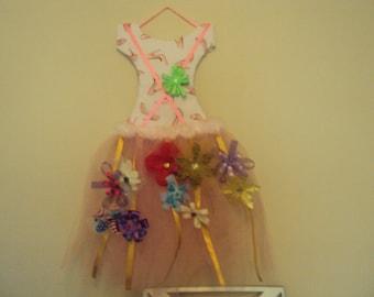 Pink Tutu Hair Bow Holder 001