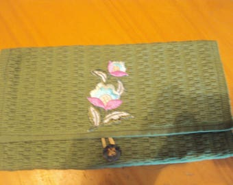 Moss Green Clutch Purse/Bible Carrier 099