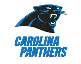 Carolina Panthers - American football: Machine embroidery design
