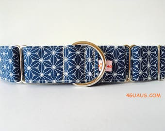 Japan marine blue, Greyhound, Japan - Collar dog collar 4GUAUS.com
