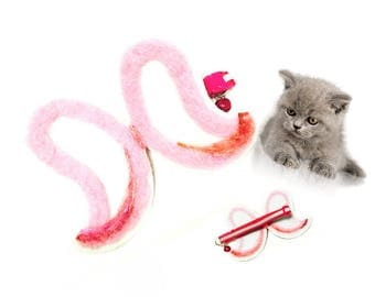 Cat Collar of angel wings,Cat Lover gift, Felt Cat Collar, Unique Cat Collar, Original cat Toys, Cat Stuff, Cat Things, Gift for Cats