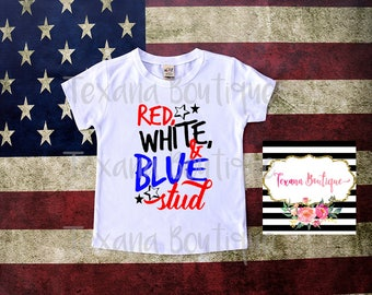 Boys 4th of july shirt, red white and blue shirt, independence day shirt, boy stud shirt, boys t shirts, boys clothing, 4th july outfit boys