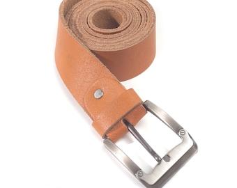 Maxwell 1 1/2 Vintage Buffalo Leather Belt