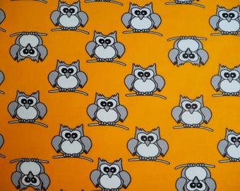 Naperonuttu owls tractor terry cloth / stretch frotte childrens fabric Finnish design Scandinavian