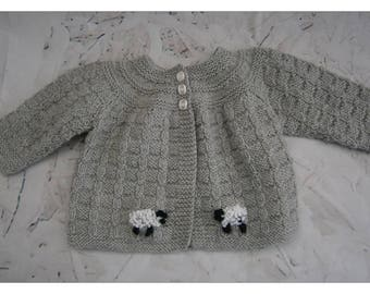 Consignment Order.  Pure Wool /grey cardigan for 4 month old.