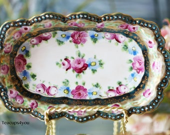 Beautiful Vintage Nippon Circa 1890 Candy Dish-Beautiful Hand Painted