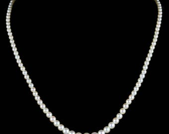 Antique Victorian Pearl Diamond Necklace Circa 1900