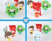 Cuatro estaciones, kokeshi, muñeca kokeshi, amigurumi, muñeca, muñecas estaciones, muñecas japonesas, folclore japonés, friki, kawaii