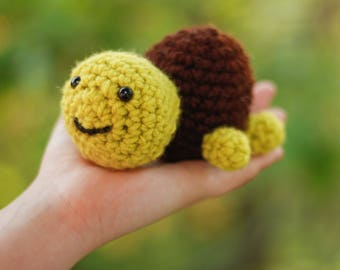 Amigurumi Stuffed Turtle Baby Toy