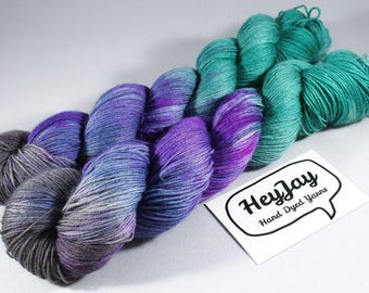 Hand Dyed Sock Yarn Superwash Merino - Mystic