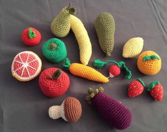 fruits and vegetables to crochet
